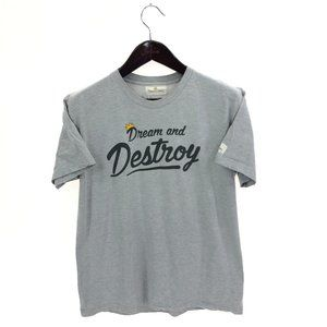 DREAM AND DESTROY T-shirt L Large Heather Gray